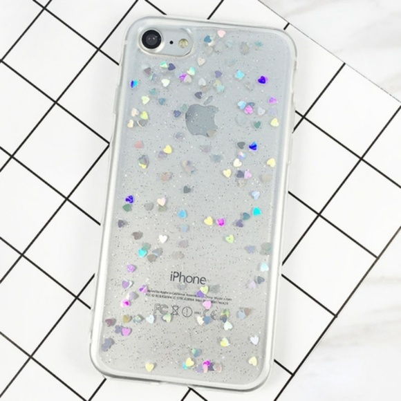 Accessories - NEW iPhone 6/7/8 Clear Floating Hearts Case